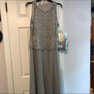 NWT J Kara Beaded Gown with shawl